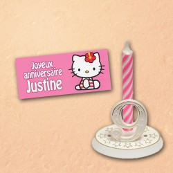 PLAQUETTE HELLO KITTY