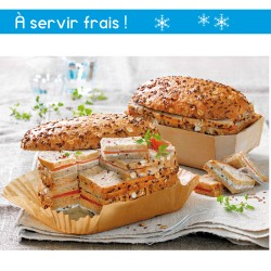 PAIN SURPRISE AUX CEREALES ET GRAINES X40 SANDWICHES